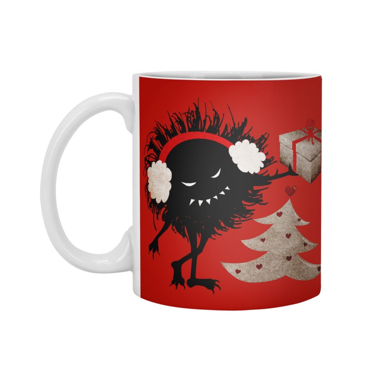 Evil Bug With Christmas Present Accessories Mug by Boriana's Artist Shop
