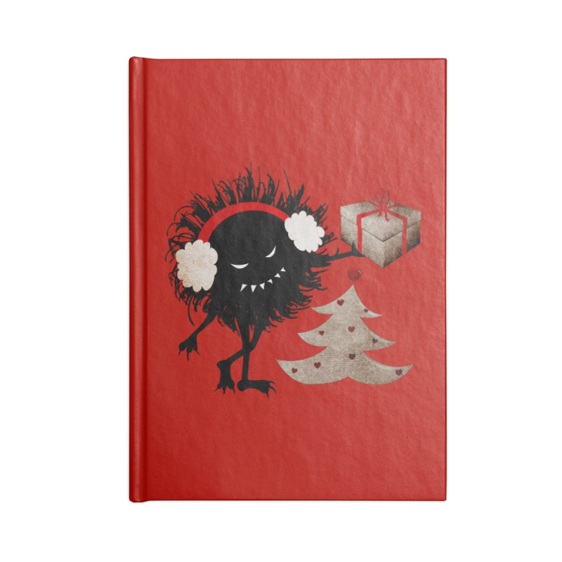 Evil Bug With Christmas Present Accessories Notebook by Boriana's Artist Shop