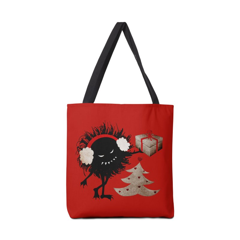 Evil Bug With Christmas Present Accessories Bag by Boriana's Artist Shop