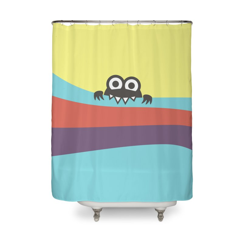 Cute Bug Bites Colorful Stripes Home Shower Curtain by Boriana's Artist Shop