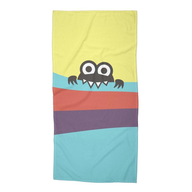 Cute Bug Bites Colorful Stripes Accessories Beach Towel by Boriana's Artist Shop
