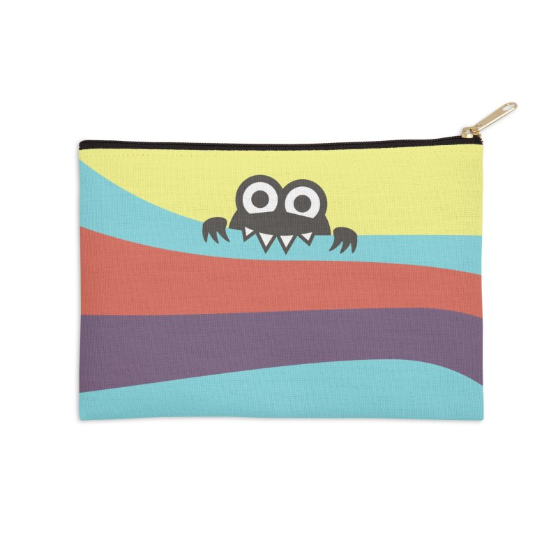 Cute Bug Bites Colorful Stripes Accessories Zip Pouch by Boriana's Artist Shop