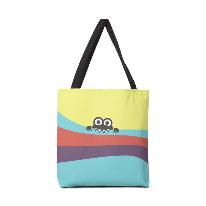 Cute Bug Bites Colorful Stripes Accessories Bag by Boriana's Artist Shop