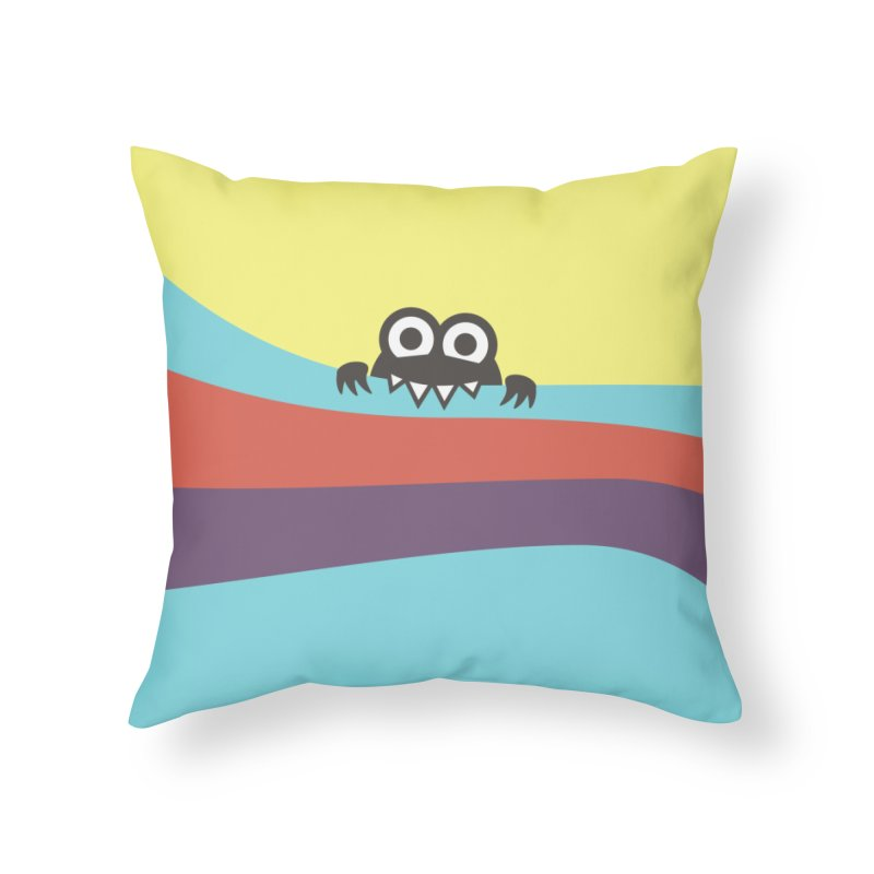 Cute Bug Bites Colorful Stripes Home Throw Pillow by Boriana's Artist Shop