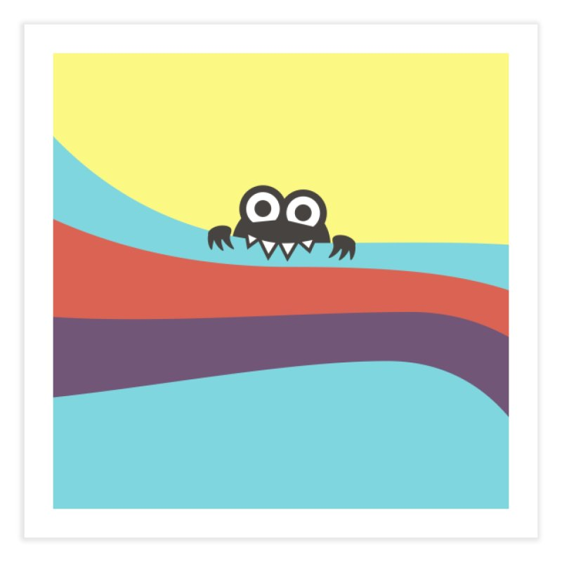 Cute Bug Bites Colorful Stripes Home Fine Art Print by Boriana's Artist Shop