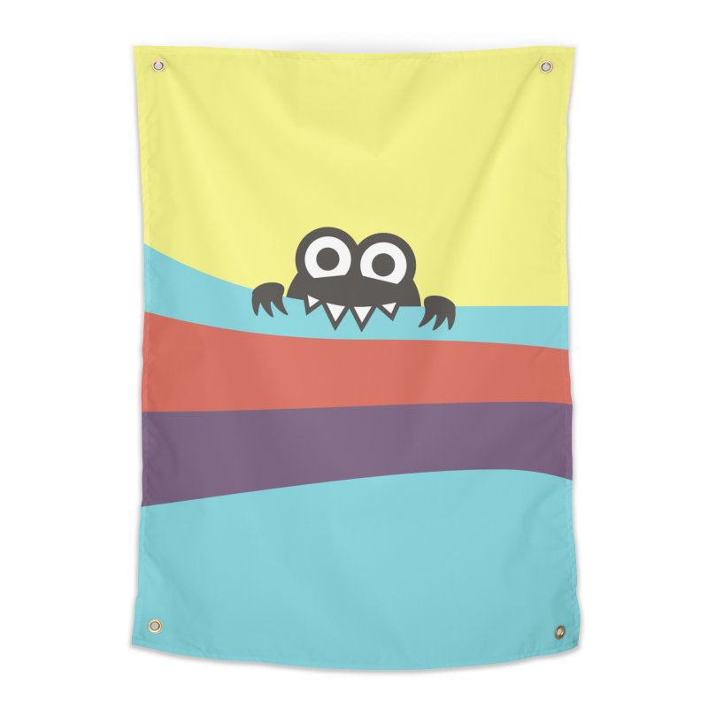 Cute Bug Bites Colorful Stripes Home Tapestry by Boriana's Artist Shop
