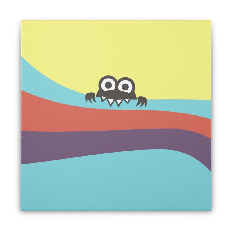 Cute Bug Bites Colorful Stripes Home Stretched Canvas by Boriana's Artist Shop
