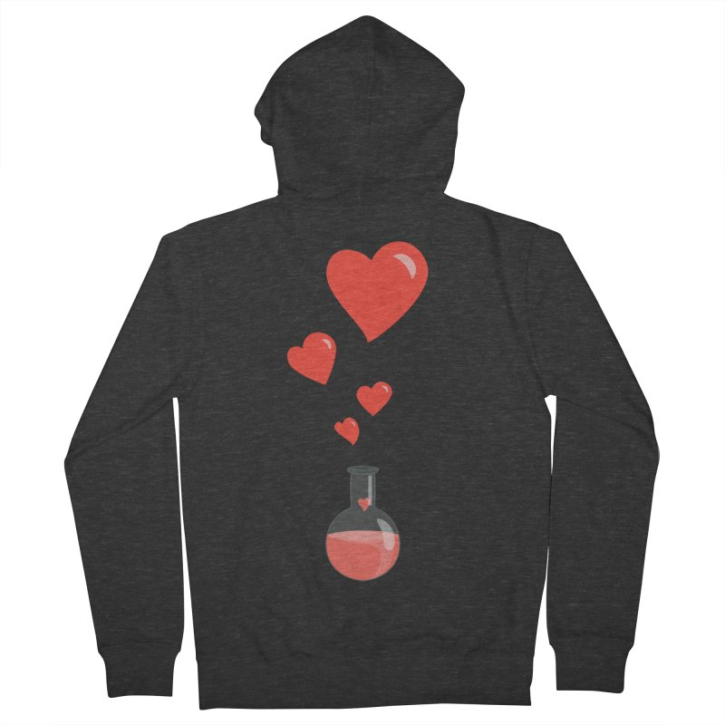 Love Potion Flask Men's Zip-Up Hoody by Boriana's Artist Shop