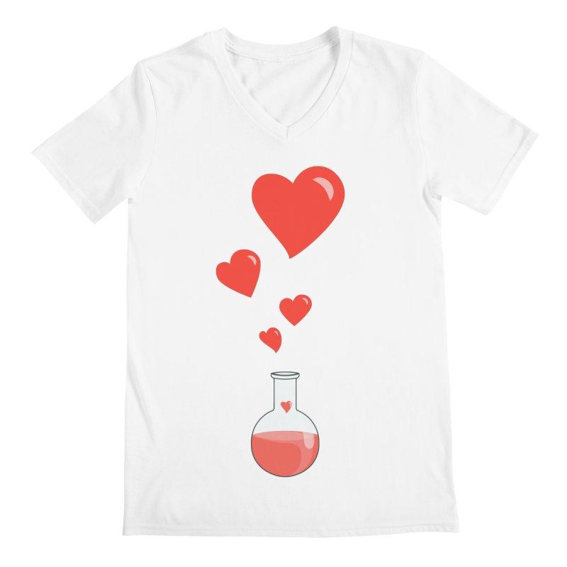 Love Potion Flask Men's V-Neck by Boriana's Artist Shop