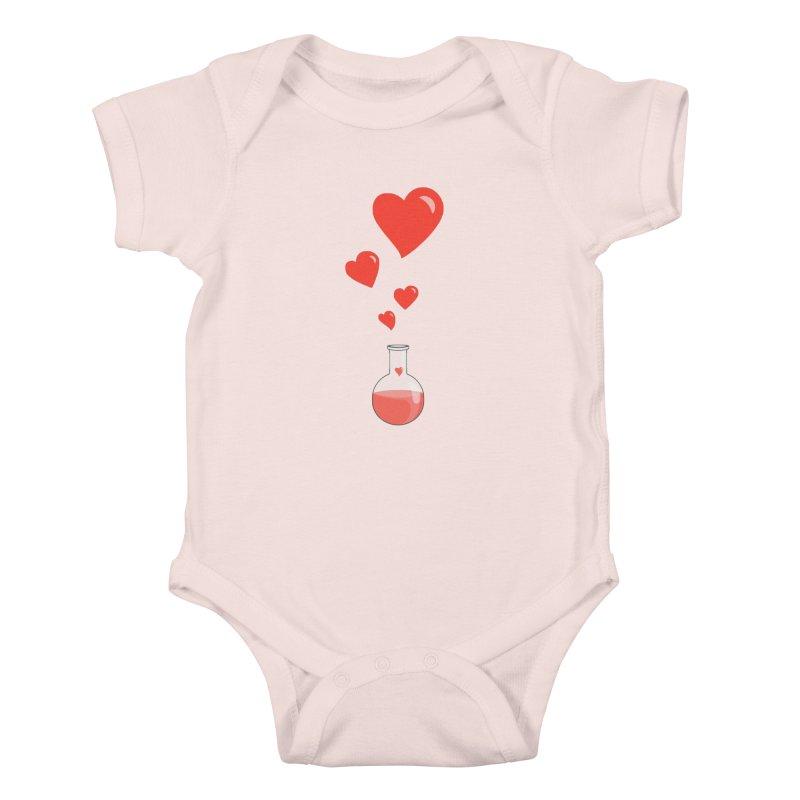 Love Potion Flask Kids Baby Bodysuit by Boriana's Artist Shop