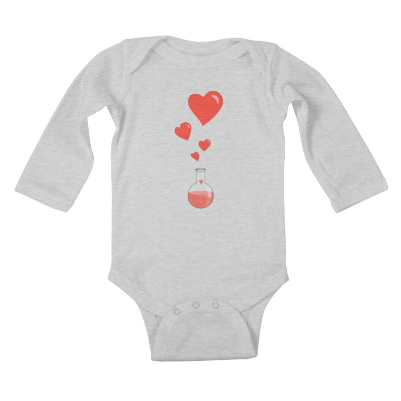 Love Potion Flask Kids Baby Longsleeve Bodysuit by Boriana's Artist Shop