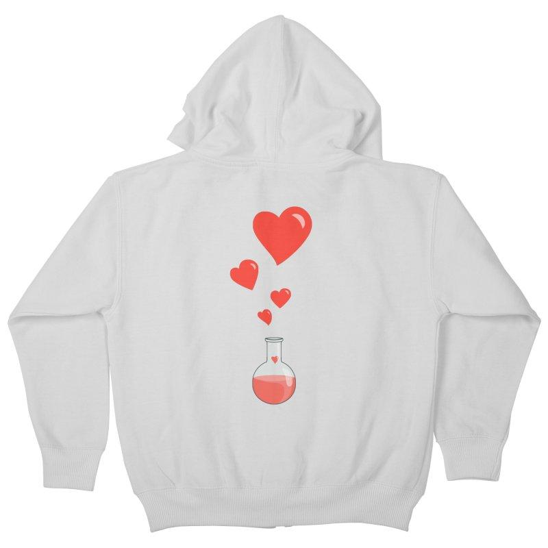 Love Potion Flask Kids Zip-Up Hoody by Boriana's Artist Shop