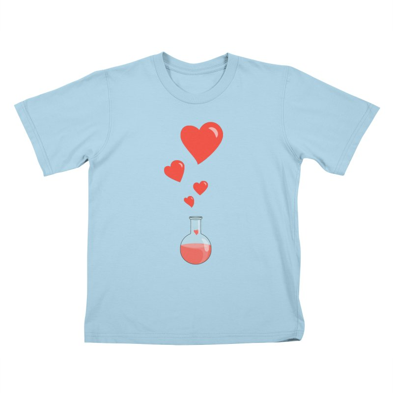 Love Potion Flask Kids T-shirt by Boriana's Artist Shop
