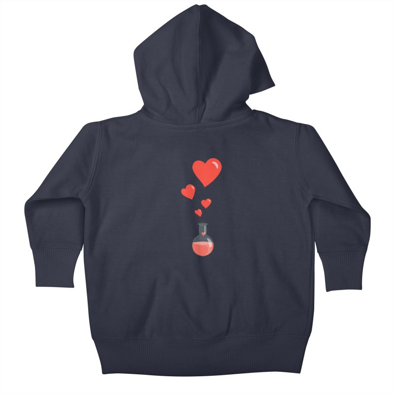 Love Potion Flask Kids Baby Zip-Up Hoody by Boriana's Artist Shop