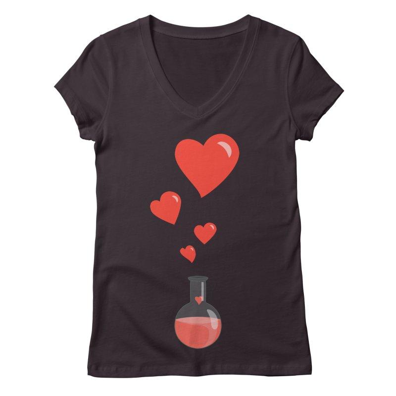 Love Potion Flask Women's V-Neck by Boriana's Artist Shop