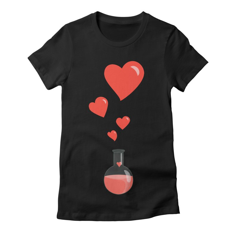 Love Potion Flask in Women's Fitted T-Shirt Black by Boriana's Artist Shop