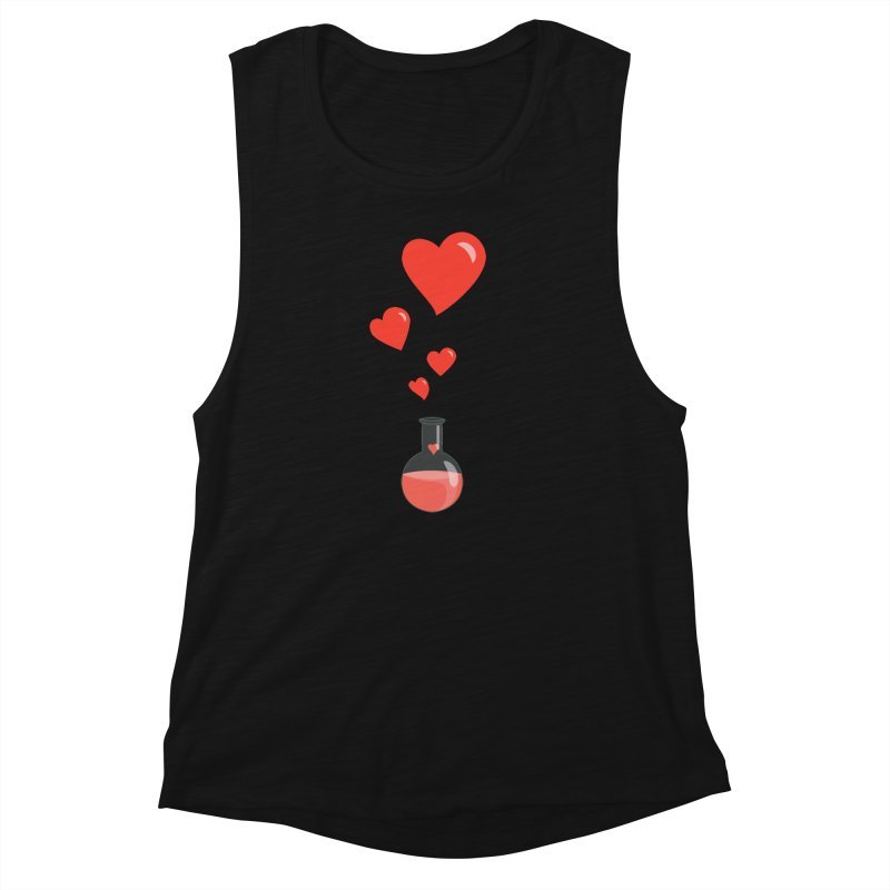 Love Potion Flask Women's Muscle Tank by Boriana's Artist Shop