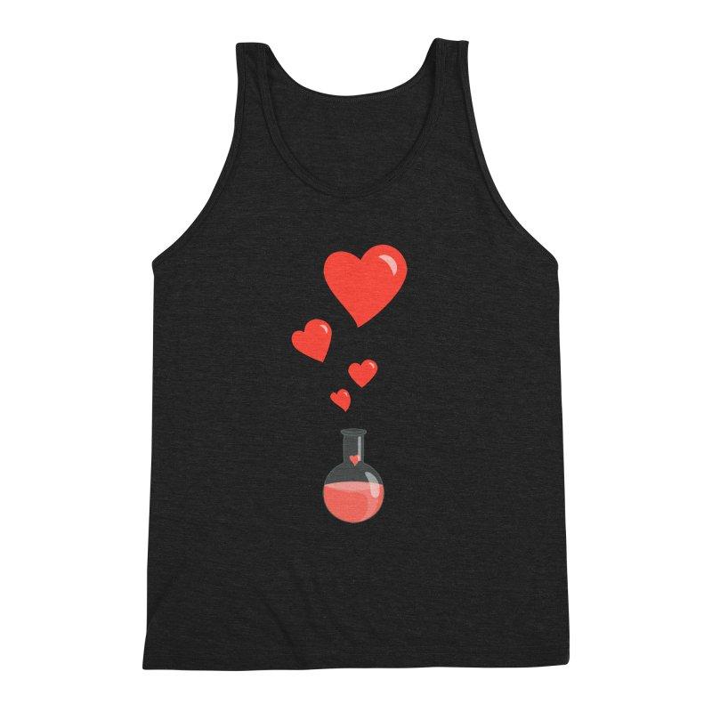 Love Potion Flask Men's Triblend Tank by Boriana's Artist Shop