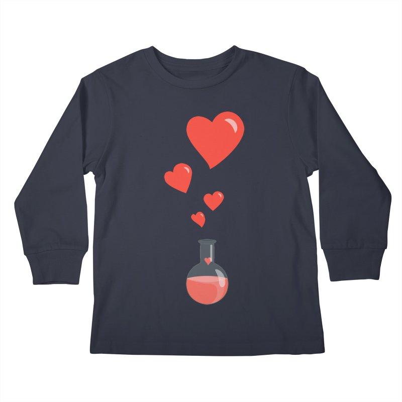 Love Potion Flask Kids Longsleeve T-Shirt by Boriana's Artist Shop