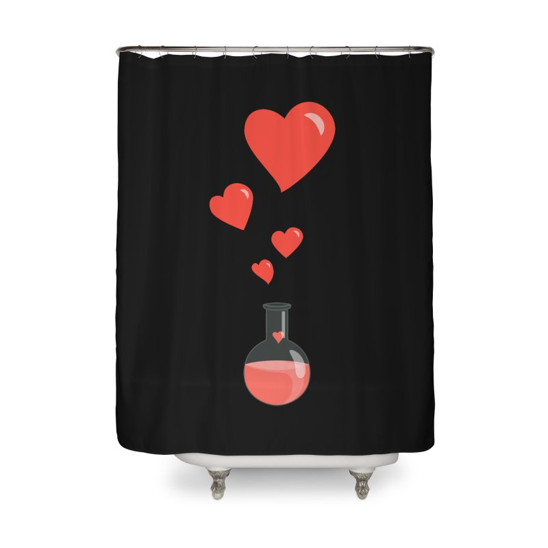 Love Potion Flask Home Shower Curtain by Boriana's Artist Shop