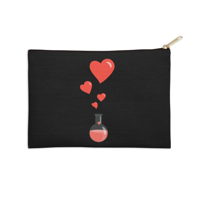 Love Potion Flask Accessories Zip Pouch by Boriana's Artist Shop