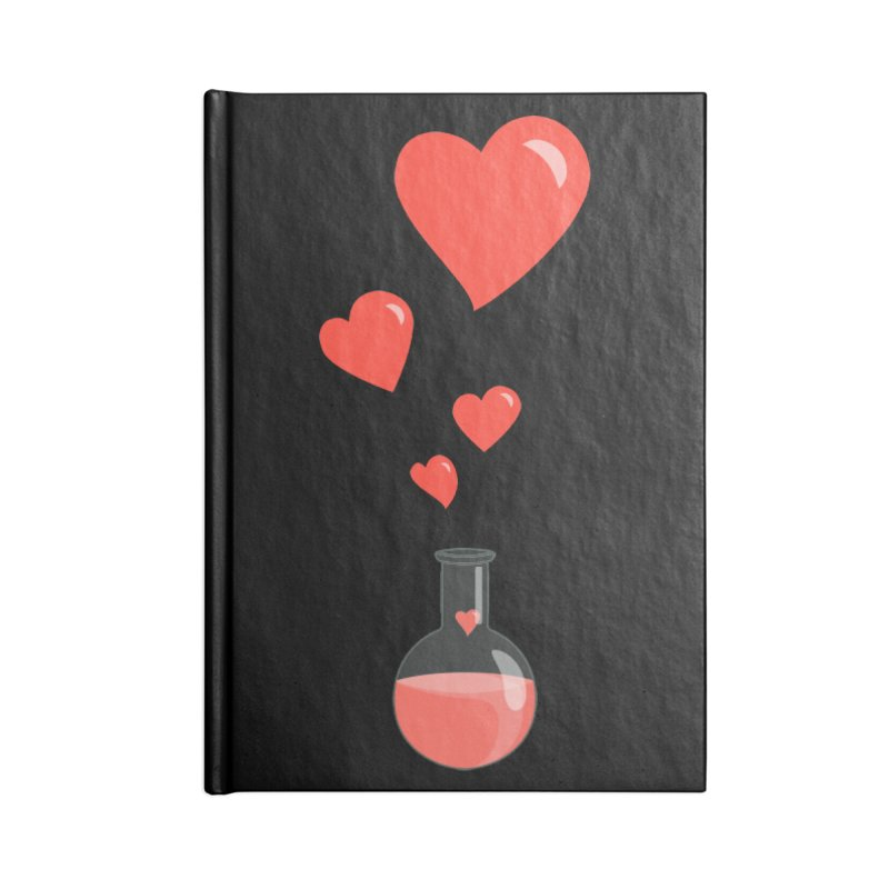 Love Potion Flask Accessories Notebook by Boriana's Artist Shop