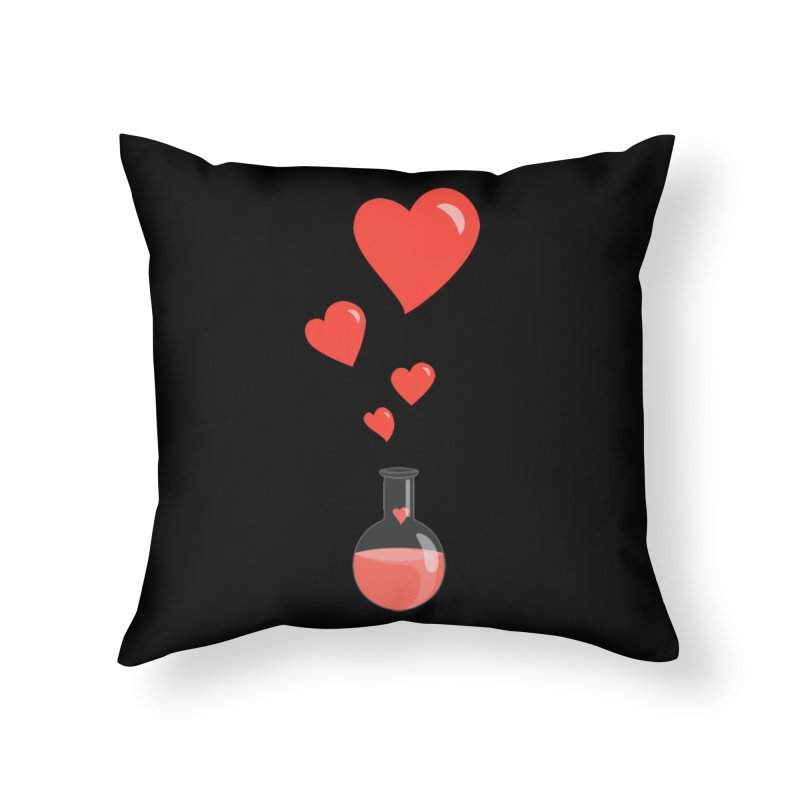 Love Potion Flask Home Throw Pillow by Boriana's Artist Shop