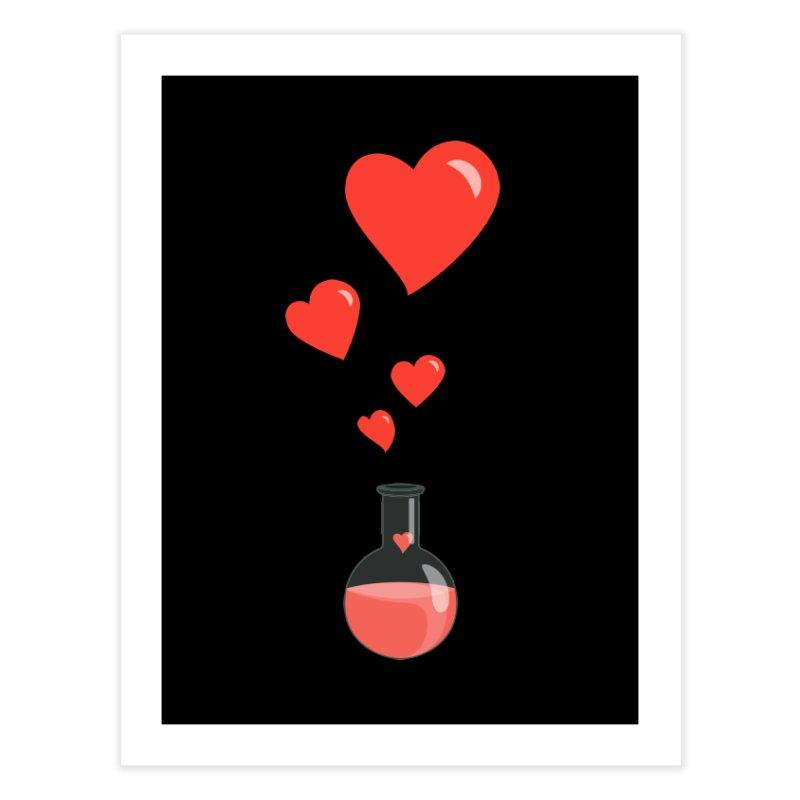 Love Potion Flask Home Fine Art Print by Boriana's Artist Shop
