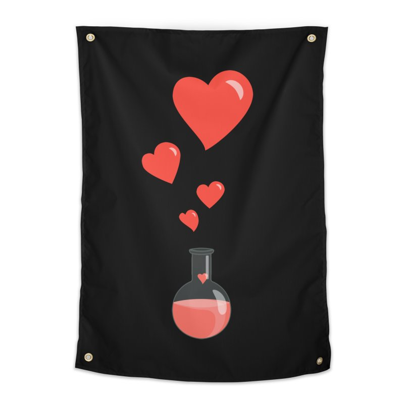 Love Potion Flask Home Tapestry by Boriana's Artist Shop