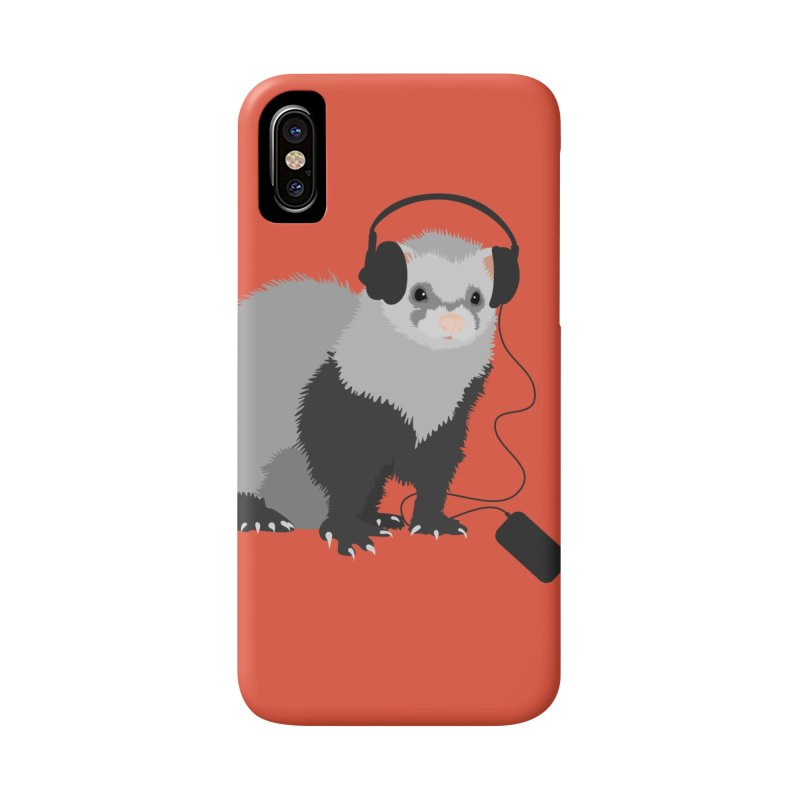 Funny Music Lover Ferret Accessories Phone Case by Boriana's Artist Shop