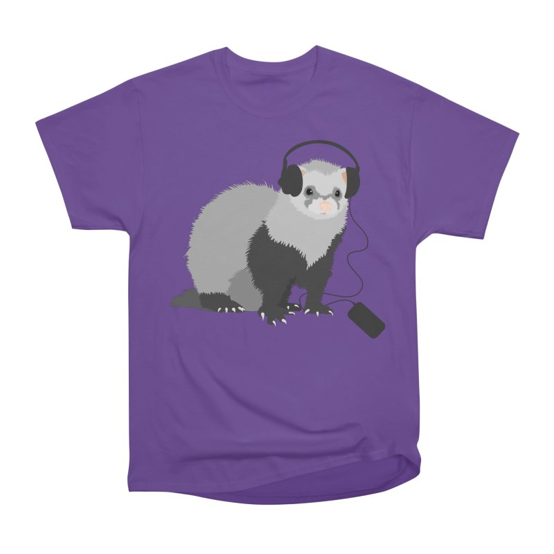 Funny Music Lover Ferret Men's Classic T-Shirt by Boriana's Artist Shop