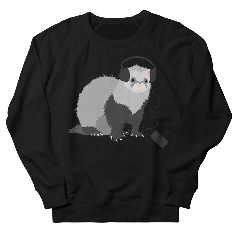 Funny Music Lover Ferret Men's Sweatshirt by Boriana's Artist Shop