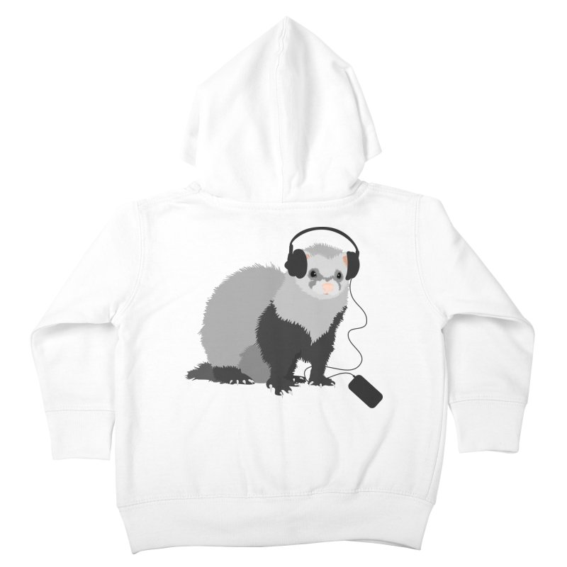 Funny Music Lover Ferret Kids Toddler Zip-Up Hoody by Boriana's Artist Shop