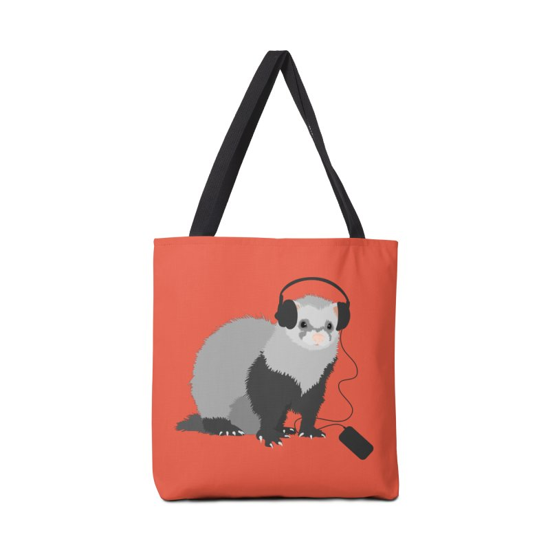 Funny Music Lover Ferret Accessories Bag by Boriana's Artist Shop