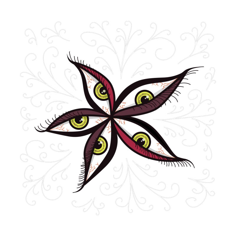 Weird Abstract Green Eyes Flower by Boriana's Artist Shop