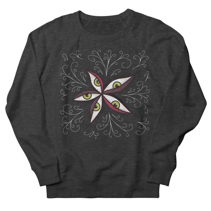 Weird Abstract Green Eyes Flower Men's Sweatshirt by Boriana's Artist Shop