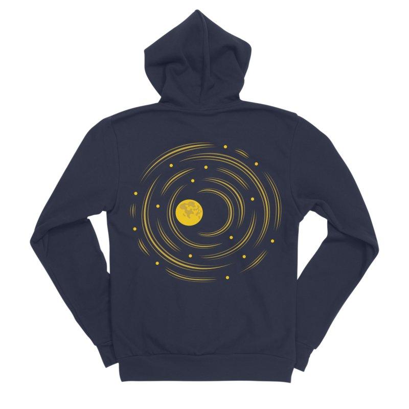 Abstract Moon And Stars Dream Men's Sponge Fleece Zip-Up Hoody by Boriana's Artist Shop