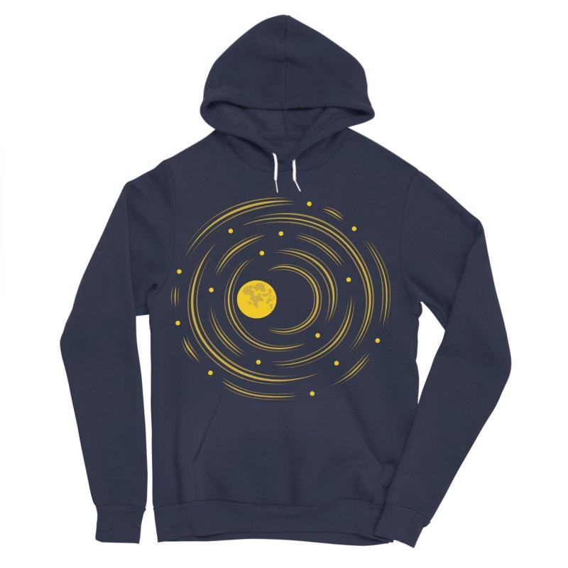 Abstract Moon And Stars Dream Men's Sponge Fleece Pullover Hoody by Boriana's Artist Shop