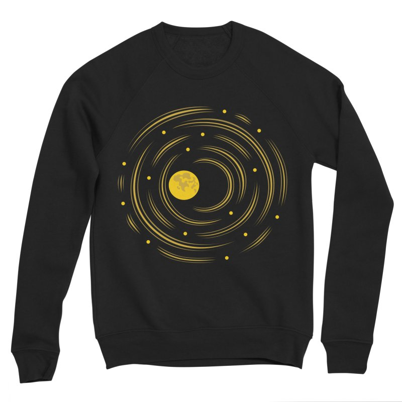 Abstract Moon And Stars Dream Men's Sponge Fleece Sweatshirt by Boriana's Artist Shop