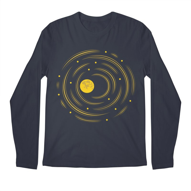 Abstract Moon And Stars Dream Men's Longsleeve T-Shirt by Boriana's Artist Shop