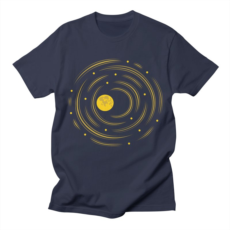 Abstract Moon And Stars Dream Men's T-shirt by Boriana's Artist Shop