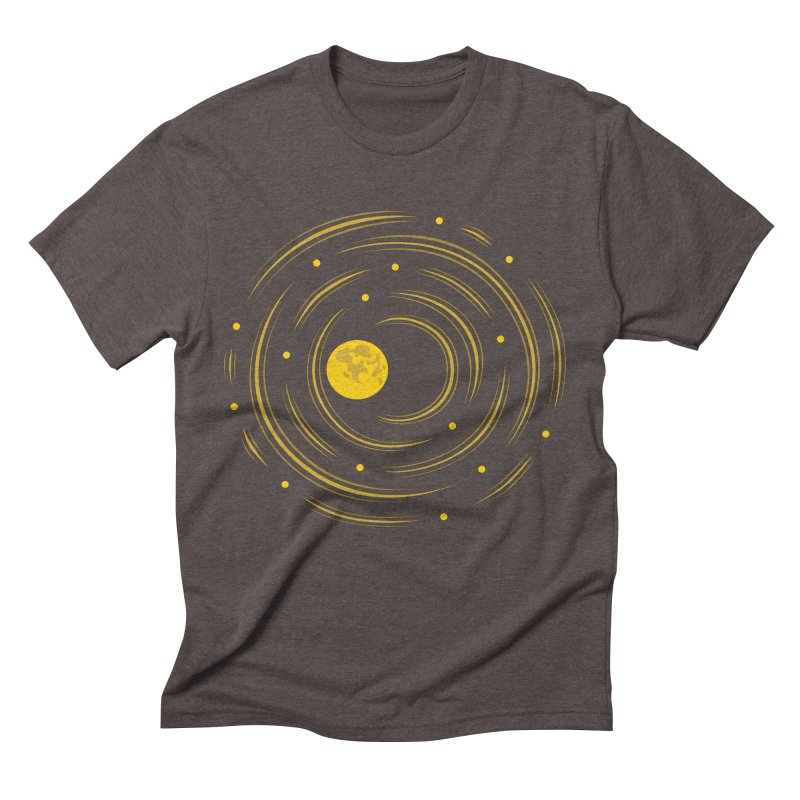 Abstract Moon And Stars Dream Men's Triblend T-shirt by Boriana's Artist Shop