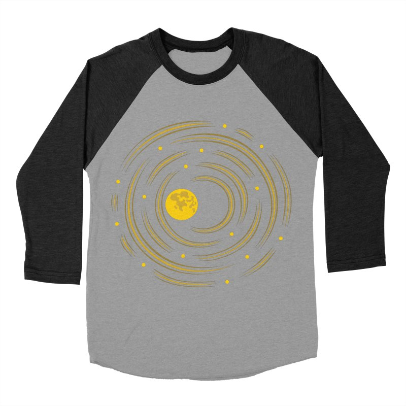 Abstract Moon And Stars Dream Men's Baseball Triblend T-Shirt by Boriana's Artist Shop