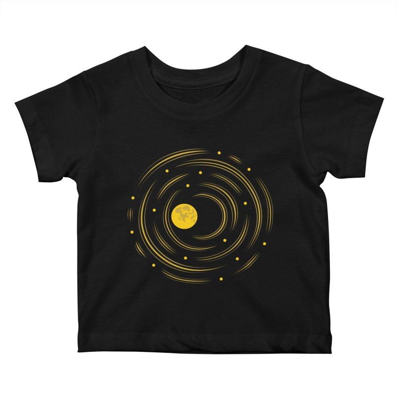 Abstract Moon And Stars Dream Kids Baby T-Shirt by Boriana's Artist Shop