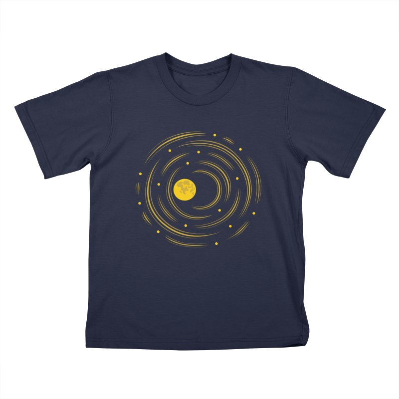 Abstract Moon And Stars Dream Kids T-shirt by Boriana's Artist Shop