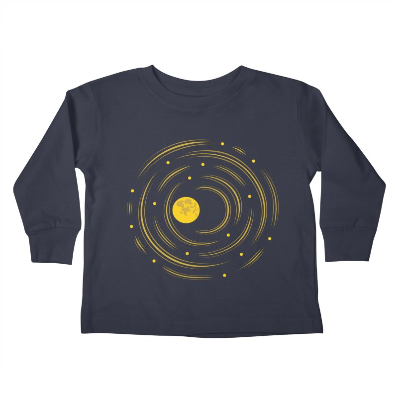 Abstract Moon And Stars Dream Kids Toddler Longsleeve T-Shirt by Boriana's Artist Shop