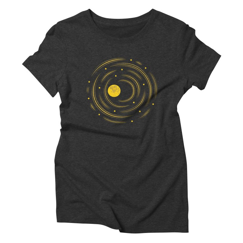 Abstract Moon And Stars Dream Women's Triblend T-shirt by Boriana's Artist Shop
