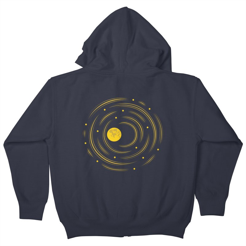 Abstract Moon And Stars Dream Kids Zip-Up Hoody by Boriana's Artist Shop