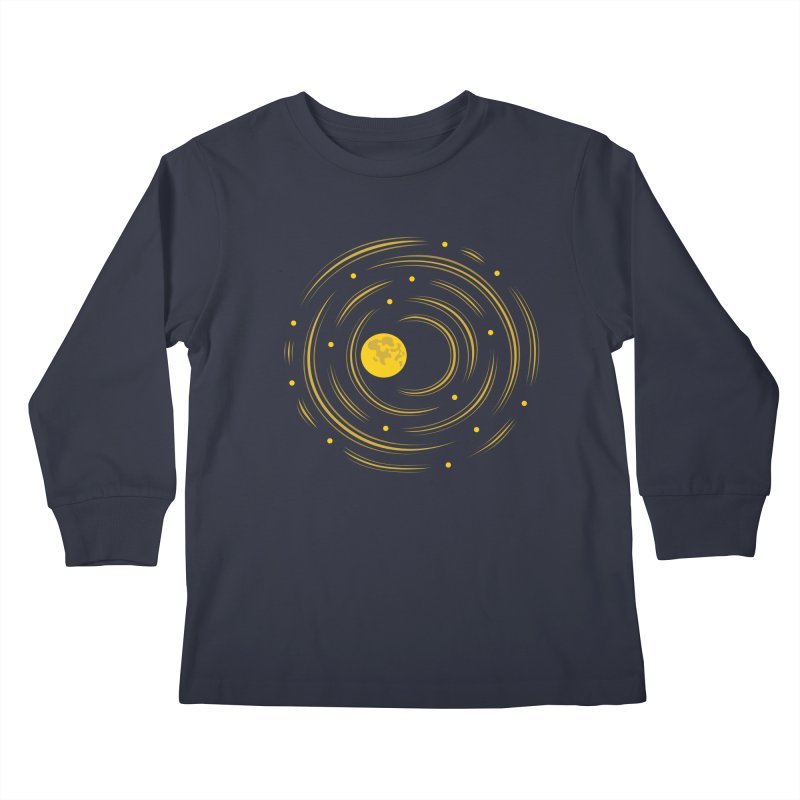 Abstract Moon And Stars Dream Kids Longsleeve T-Shirt by Boriana's Artist Shop