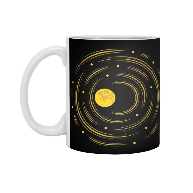Abstract Moon And Stars Dream Accessories Mug by Boriana's Artist Shop